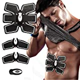 Havenfly Ab Toner ab Trainer EMS Training Muscle Toner Electronic Muscle for Bauch Arm Bein Support Männer & Women Wireless