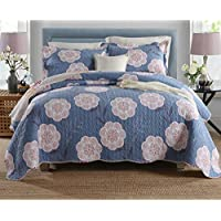 WYFC Juego de cama de tres piezas acolchado de algodón 2 piezas Funda de cama Shams 1pc . J . three pieces