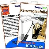 HTC One S9 Panzerglas Panzerglasfolie Glasfolie 9H