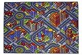 Kinder Autoteppich Straßenteppich Kinderteppich Spielteppich Kinderzimmer 140x200cm