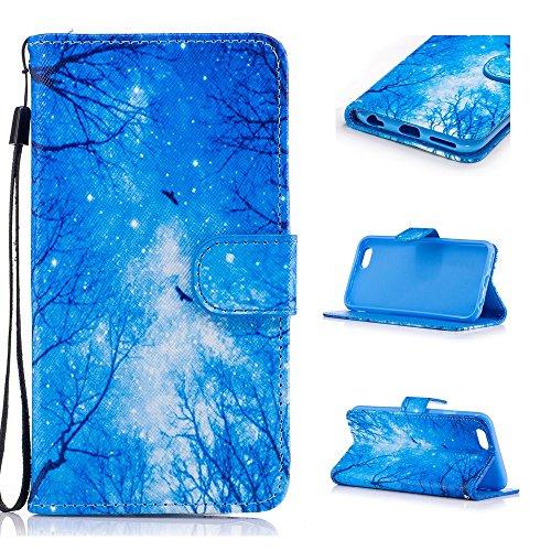 Custodia per iPhone 6 Plus / iPhone 6S Plus, Hancda Modello Elegante Disegni Cover Funzione Stand Custodia in Pelle Portafoglio di Cuoio Libro Sottile Flip Case Protettiva Chiusura Magnetica Antiurto Foresta