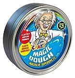 CRAZE MAGIC DOUGH Professor Intelligente Superknete für Kinder 80g In Dose Glutenfreie Kinder-Knete Nachtleuchtend Mehrfarbig Metallic Glitzereffekt 58856