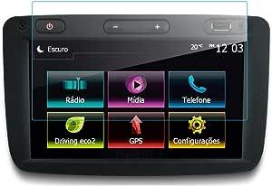 Lfotpp Dacia Sandero 7 Zoll Navigation Schutzfolie 9h Kratzfest Anti Fingerprint Panzerglas Displayschutzfolie Gps Navi Folie