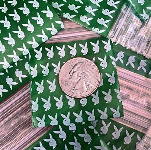 200–3,2x 3,2cm Playboy Bunny Design Kunststoff Ziploc Baggies