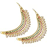 Mallepula Stone Gold Plated Earrings For Women