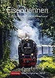 Eisenbahnen - Kalender 2019: Wochenplaner, 53 Blatt mit Zitaten und Wochenchronik Bild