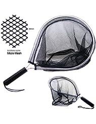 Sam's Fishing Fly Épuisette en maille de nylon sans nœud Cadre en aluminium pour kayak-pêche