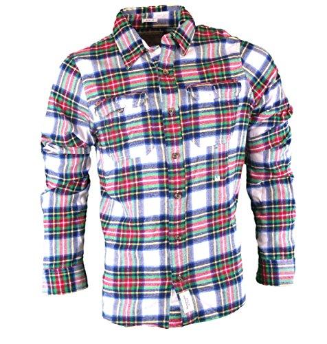 Abercrombie Herren Railroad Notch Shirt Langarmshirt Langarm Shirt Sweatshirt, Größe XXL, Weiß