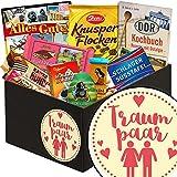 Traumpaar | Schokolade Box | Geschenkbox Traumpaar | Präsentkorb Schokolade | Geschenke zur Hochzeit Ideen | inkl. DDR Kochbuch