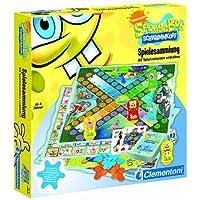 Clementoni-697403-SpongeBob-Spielesammlung-80-Spielvarianten Clementoni 69740.3 – SpongeBob – Spielesammlung – 80 Spielvarianten -