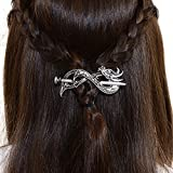 Best unknown Man Jewelries - Norse Celtic Wedding Hair Accessories-Viking Antique Silver Dragon Review