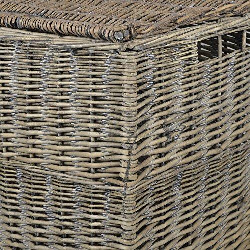 Grey Wicker Extra Large Storage Hamper / Trunk / Basket / Toy Box / Gift Hamper