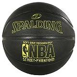 Spalding Nba Phantom Sgt SZ. 7(71-025Z) Bälle-Basketball, Schwarz/Fluo Gelb, 7