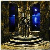 3dRose LLC CT 11660_ 4eine Mittelalterliche Burg Innen mit Stein Wände gewölbte Windows und A View der Mondschein Sea Außerhalb Keramik Fliesen, 12Zoll