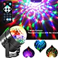 Disco Lights Party Ball Projector Stage Crystal Lamp 7 Modes Patterns with Remote for Holidays, Home Party,Bar,DJ,KTV,Birthday (RGB)