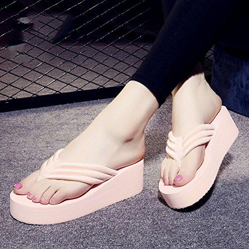 Estate Sandali Flip flops Slip di estate femminile Sandali impermeabili inferiori del fondo Sandali di personalità di moda con i formati Colore / formato facoltativo 1004