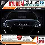#9: CarMetics Hyundai 3D Letters for Hyundai i20 Active Silver Color 1 Set
