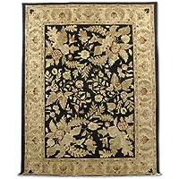 Tradizionale fatto a mano Chobi Aubusson tappeto persiano, lana, nero, 265x 345cm, 8'20,3cm x 11' 10,2cm ( ft)