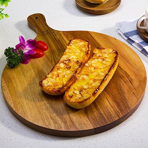 Schneidbretter Retro Schneidebrett Bake Chopping Block Frucht Brot Pizza Holz Tray Kneten Board (größe : Rounded)