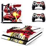 Playstation 4 + 2 Controller Design Sticker Protector Set - Deadpool (6) /PS4