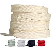 LaceHype 2 Paar - Premium Flache Schnürsenkel reißfeste Schuhbänder [10 mm breit ] Ersatz Shoelaces aus Polyester für…