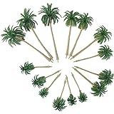 VORCOOL Trämodellträd, 15 st landskapmodell kokosnöt palmer HO ONZ skala