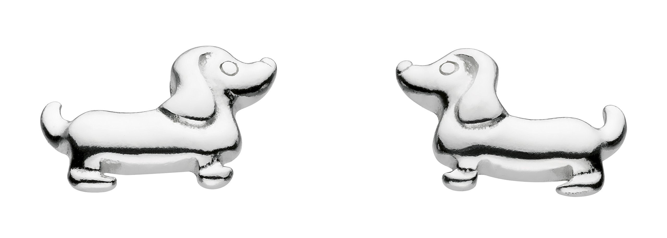 Dew Girl's Sterling Silver Charming Sausage Dog Stud Earrings AMA4860