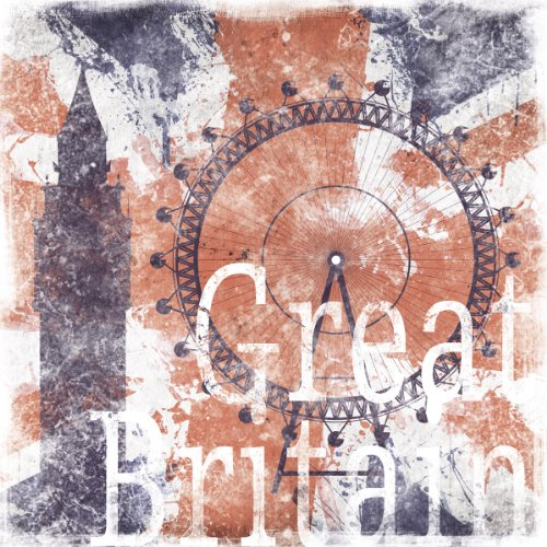 Eurographics EC-DF1022 Eco Chic, God Save The Queen, 50 x 50 cm