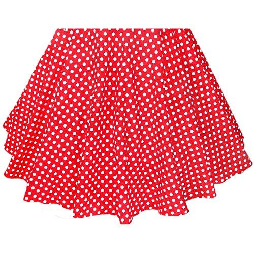 ILover Frauen-Weinlese 1950 Marilyn Monroe Rockabilly großen Swing-Kleid E038-BDrote