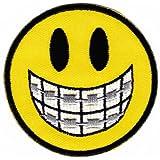 Parche plancha de planchar Iron on patches applikation Smiley dientes Pasador cara caritas sonrientes Ropa Infantil