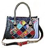 S-Kiven Ladies' Patent Leather Shoulder Bag CrossBody Handbag Hobo bag Tote Top-Handle Handbag Satchel Bucket for Women (Multicolour)