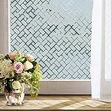 Privatleben-Fenster-Film (17.7x78.7by Zoll) Schälen Sie Und Haften Sie Wiederverwendbare Dekorative Nicht Klebende Mattfensterfolie Mit Wärmedämmung