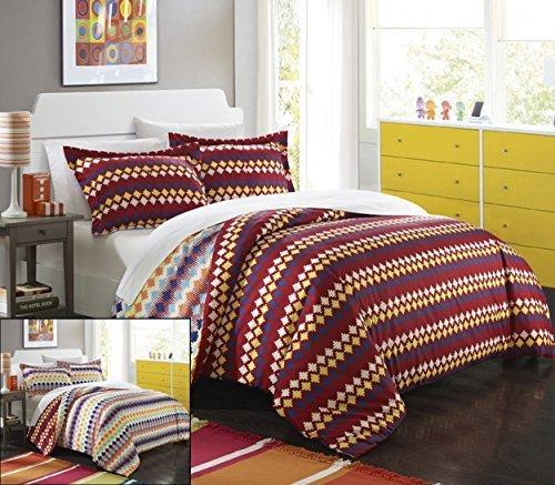 Chic Home 3Stück Sierra Navajo Southwestern Style beidseitig bedruckt Tröster Set, Full/Queen, Spice Tones