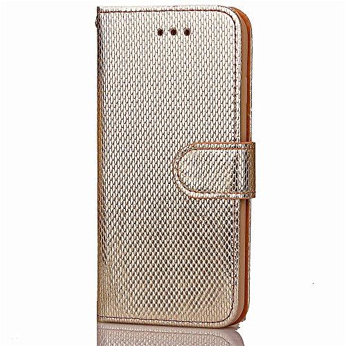 Voguecase Pour Apple iPhone 7 Plus 5,5 Coque, Étui en cuir synthétique chic avec fonction support pratique pour iPhone 7 Plus 5,5 (ZG-bleu clair)de Gratuit stylet l'écran aléatoire universelle ZG-Or