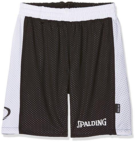 Spalding Kinder Essential Reversible Shorts, schwarz/Weiß, 164