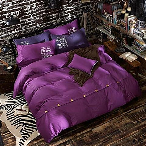 HBY estilo rico floral 4 Piezas Flocado Juego de cama completo, 1 funda nórdica, 1 cenefa, 122 funda de almohada