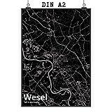 Mr. & Mrs. Panda Poster DIN A2 Stadt Wesel Stadt Black -