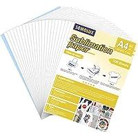 SOMOLUX Lot de 100 feuilles de papier de sublimation thermique 21,6 x 27,9 cm Compatible avec imprimante à jet d'encre…