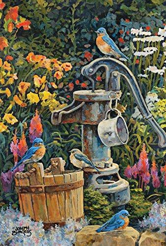 Toland Home Garden Eastern Bluebird gut Wasser Garten Flagge, Textil, Mehrfarbig, L