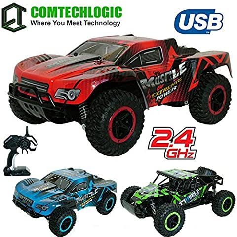 Comtechlogic® CM-2221 2.4Ghz 1:12 Scale USB Electric Muscle Off Road RC Radio Remote Control SUV Buggy Car EP RTR - Indoor & Outdoor