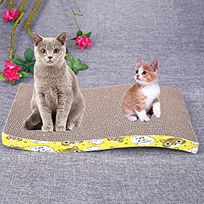 Everpert Double Side Corrugated Pet Scratching Bed Cat Scratch Board Kitten Play Mat 2