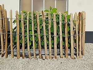 STILTREU Staketenzäune Staketenzaun Kastanie Höhen 50 cm - 200 cm, 5 Meter Rolle, 3 versch. Lattenabstände (Länge x Höhe: 500 x 75 cm, Lattenabstand: 6-8 cm)