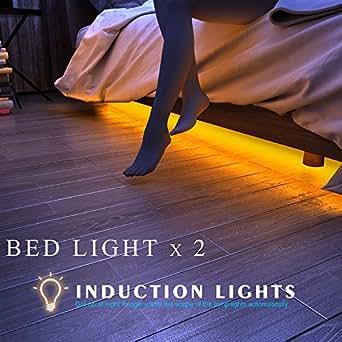 honesteast bett licht led streifen licht. Black Bedroom Furniture Sets. Home Design Ideas
