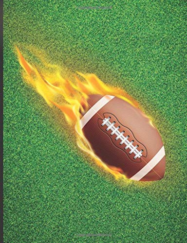 Composition Notebook: College Ruled Lined Pages Book American Football and Grass Background Cover