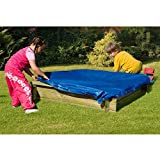 Sandkasten Tim mit Abdeckplane blau von Gartenpirat