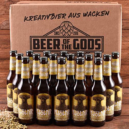 18 x Mjölnir Craft Beer - Nordic Lager Pils 0,33l - Wacken Brauerei - Craft-Beer Paket - Beer of the Gods - Thorshammer Pilsener Bier