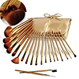 21Pcs Make Up Brushes, VALUE MAKERS Premium Kabuki Makeup Brushes Cosmetics Brush-Makeup Tools Kit ( Gold)