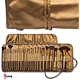 Zureni 24Pcs/Set Pro Makeup Brush Set & Kit Professional Makeup Tool Kit Cosmetic Makeup Brushes - Golden