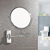 DADAO Klappbare schminkspiegel Schönheit-Spiegel Wand-kosmetikspiegel Europäische Doppelseitige Runder Spiegel-B 8inch