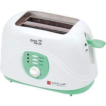 Cello Quick Pop Up 100, 2 Slice Toaster, Green White